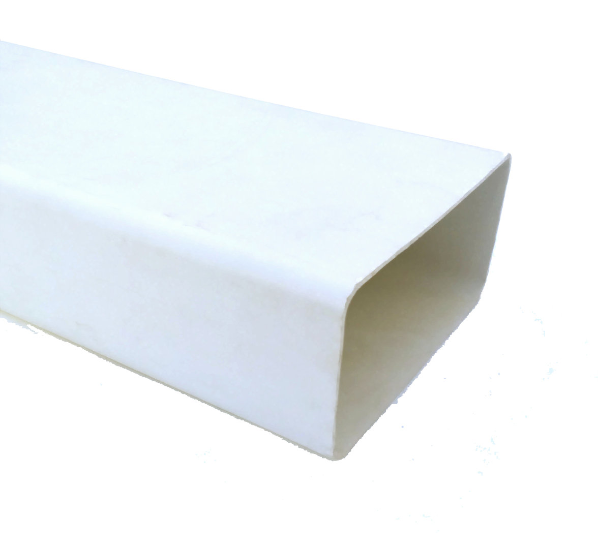 Tubo humos rectangular 55x110x1500 mm hinelco es for Tubo campana extractora rectangular